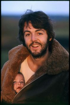 Paul with baby Mary, Scotland 1969