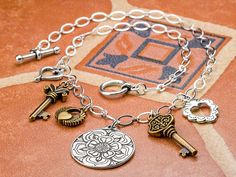 Free Ideas: Artbeads.com - The Key to Her Heart, made with all kinds of different charms
