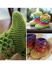 Crochet Patterns - Crocodile Stitch Boots