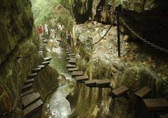 An Amazing Stairway! P.S No Photoshop is Used HereP.P.S For all who wanted to know where this place is: This is The West Side of Taihang Mountain, Shanxi Province in China