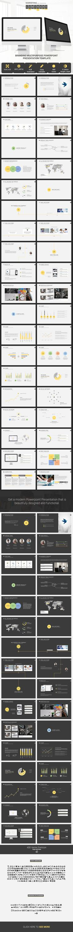 Luminary Presentation template by Uuganbayar D, via Behance