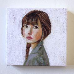 Sarah  Tiny canvas print  Portrait drawing Print of by tushtush, $20.00