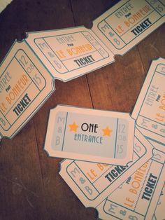 Tickets d'entrée au mariage Création graphique Les Créa d'Ema