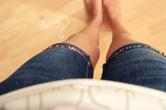 DIY embroidery thread shorts