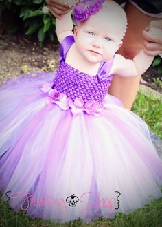 Purple+Hydrangea+Sash+Tutu+Dress++Infant+018+by+FrostingShop,+$60.00