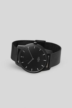 Matte All Black Watch With Black Mesh Strap | Our Theory Of Watches. Get 10% off with discount code: matthijskok