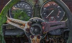 This car graveyard in Appleton, Cheshire was full of abandoned Triumph Spitfire racing vehicles until the site was finally sold and redeveloped. Abandoned Cars, Abandoned Places, Abandoned Vehicles, Triumph Auto, Cheshire England, Triumph Spitfire, Rust In Peace, Rusty Cars, British Sports Cars