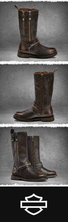 Treat yourself with the Sackett boots in brown. | Harley-Davidson Women's Sackett Boots