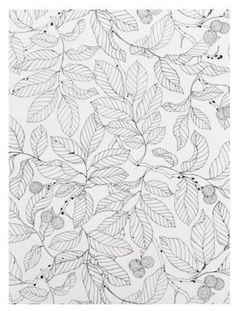 ikea stockholm blad fabric, white