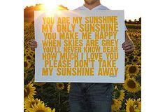 Yellow & White Sunshine