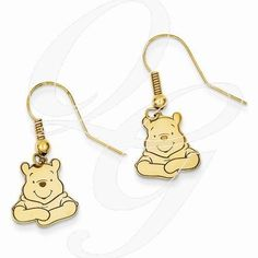 Always trying to make and find the good stuff! Gold-Plated SS Disney Winnie The Pooh Dangle Wire EarringsBy Paul Michael Design. Available at www.Geek.jewelry  #Jewelry #popculture #Diamonds #geekdotjewelry #GeekJewelry #Creative #Unique #YouAreSpecial #HandMade #PaulMichaelJewelry