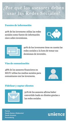 Por qué los asesores debe usar las Redes Sociales #infografia
