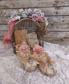 Decorative Pointe Ballet Shoes with Paper Rose Embellished | Etsy Shabby Cottage, Cottage Chic, Shabby Chic, French Cottage, Dance Decorations, Shoe Wall, Amazing Decor, Vintage Pearls, Paper Roses
