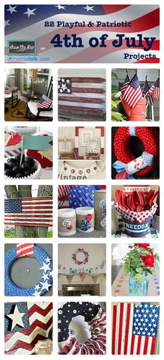 4th of July Inspiration from Hometalk.com via chasethestar.net #craft #diy #craft #4thofjuly #patriotic