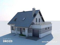 Drozd to wyjątkowo funkcjonalny dom z garażem o tradycyjnej bryle zaprojektowany z myślą o 4-5 osobowej rodzinie. Zobacz projekt: http://www.domywstylu.pl/projekt-domu-drozd.php