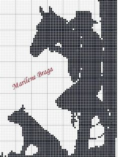 Full Art's Embroidery in Cross Stitch: Graphics Monochrome Cross Stitch Horse, Cross Stitch Animals, Cross Stitch Charts, Cross Stitch Patterns, Cross Stitching, Cross Stitch Embroidery, Cross Stitch Silhouette, Crochet Horse, Horse Pattern