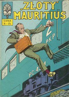 "Seria: ""Kapitan Żbik"" ""Złoty Mauritius"" Mauritius, Comic Books, Cover, Comic Book, Comics, Blanket, Graphic Novels"