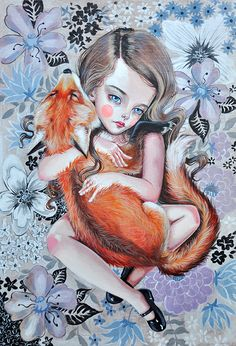 Little omori 3 Visual t Creepy Pretty art and Pop surrealism Girl Artist, Artist Art, Fox Art, Lowbrow Art, Art And Illustration, Pretty Art, Surreal Art, Art Photography, Art Prints