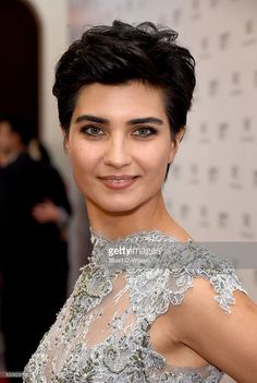 Turkish actress Tuba Buyukustun poses during the IWC Filmmaker Award Night 2015 at The One & Only Royal Mirage on December 10, 2015 in Dubai, United Arab Emirates.