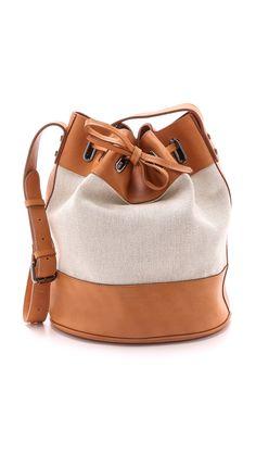 Zimmermann Drawstring Beach Bucket Bag - Tan | SHOPBOP.COM saved by #ShoppingIS