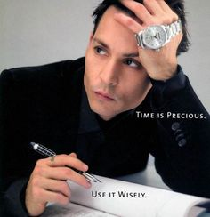 Johnny Depp: watch ad: 'Time is precious; Use it wisely.'