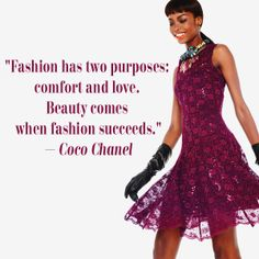 The purposes of fashion.  #Coco #Chanel #fashion