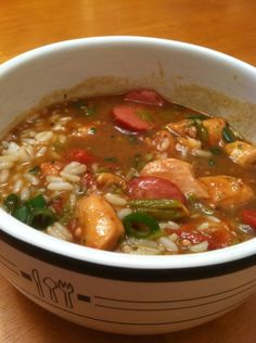 Chicken Sausage Gumbo in bowl
