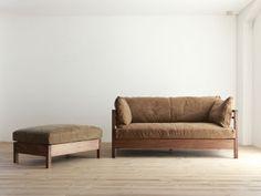 Wood Sofa, Scandinavian Furniture, Diy Sofa, Wooden Bed, Sofa Design, Furniture, Sofa Chair, Furniture Fix, Vintage Furniture