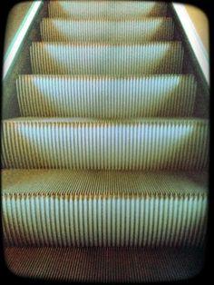 escalator, urban, city, transportation, ridges, patterns, ascent, ascending, motion, stairs, stairway,