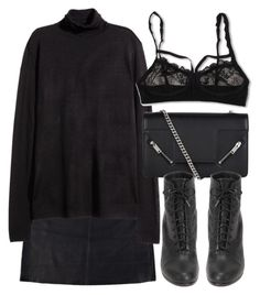 """Untitled #4490"" by laurenmboot ❤ liked on Polyvore featuring Eska, H&M, Yves Saint Laurent, rag & bone and Hanky Panky"
