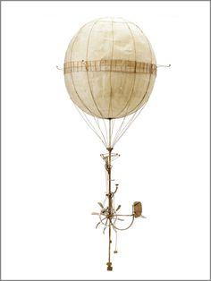 6 Fantasy Steampunk Contraptions Made Only From Cardboard Cardboard Sculpture, Cardboard Art, Steampunk Airship, Dieselpunk, Steampunk Fashion, Ballon, Air Balloon, Steam Punk, Machine Volante
