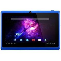 Alldaymall A88X 7'' Tablets - Android 4.4 Quad Core, HD 1024x600 Dual Camera, Bluetooth Wi-Fi 8GB 3D Game Supported - Blue //Price: $62.99 & FREE Shipping // The Buddy Shoppe// https://thebuddyshoppe.com/shop/electronics/computers/tablets/alldaymall-a88x-7-tablets-android-4-4-quad-core-hd-1024x600-dual-camera-bluetooth-wi-fi-8gb-3d-game-supported-blue/ //    #onlineshopping
