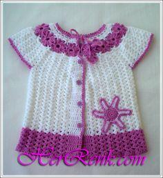 ÇİÇEK MOTİFLİ TIĞ İŞİ BEBEK YELEĞİ YAPIMI  Kız bebek örgü modelleri/bebek yelekleri  http://www.herrenk.com/sdetay.asp?did=2282