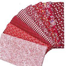 Хлопковые ткани для пэчворка Вышивание Тильда куклы ткань маленький цветок решетки Экологичные telas лоскутное 8 шт. 50x50 см 100X157 см(China)