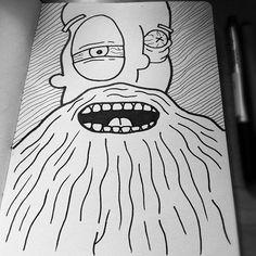 Bearded ♥ #illustration #doodle #art
