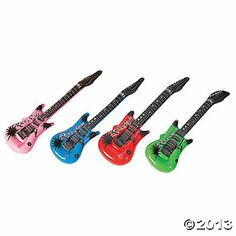 Inflatable Guitars--- $10/ for 12 . Fresh Beat Band Birthday