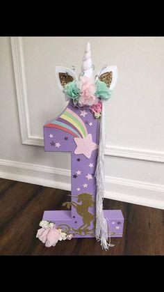 Unicorn Centerpiece Numbers | Birthday Wikii