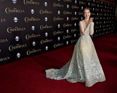 How gorgeous is Lily James' Cinderella gown?