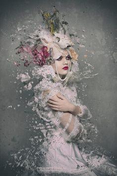 ☆ Alternative Purple ☆彡 Portraits, Portrait Photographers, Art Photography, Fashion Photography, Foto Art, Studio, Rose, Creative, Artwork