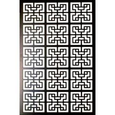1/4 In. X 32 In. X 4 Ft. Black Chinese Style 2 Vinyl Decor Panel