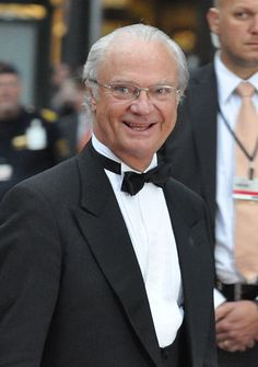Carl XVI (Gustaf Folke Hubertus) Gustaf - b 04/30/1946 in Solna, Sweden - Reigning King of Sweden. On 15 September 1973, he succeeded his grandfather King Gustaf VI Adolf. Unlike many other European monarchs who have extensive styles, King Carl Gustaf's formal and complete style is simply His Majesty Carl XVI Gustaf, King of Sweden.