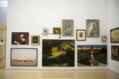 While moving art out of the Botta building, our temporary storage area created this unusual mix of genres and styles. Does seeing works of art out of their normal context change the way you look at and think about them?