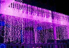 Purple 32 feet (10M) 100 LED String Fairy Lights Wedding Garden Home Party Christmas Light Decoration with 8 function controller on Etsy, $7.00