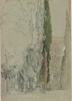 The Villa d'Este at Tivoli, by Samuel Palmer