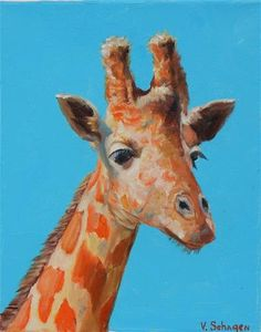 "Daily Paintworks - ""Giraffe"" - Original Fine Art for Sale - © Vita Schagen"