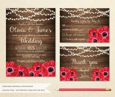 Printable Wedding Invitations, Floral Wedding Invitations, String Lights, Rustic Wedding, Printables, Frame, Picture Frame, Fairy Lights, Print Templates