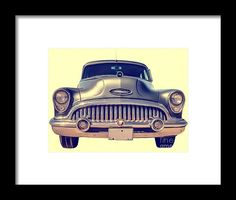 50s Framed Print featuring the photograph 1953 Buick Roadmaster by Edward Fielding