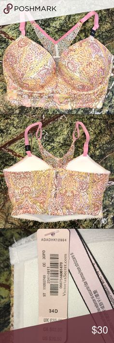 NWT Body By Victoria Push Up Racerback 34D NWT push up racerback bra. Adorable and comfy, I have it in another color. This color just isn't me and it will sit in my drawer and collect dust. Open to reasonable offers. Bundle and save on shipping. Victoria's Secret Intimates & Sleepwear Bras