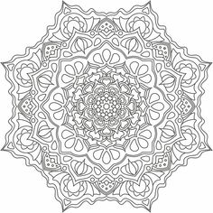 Mandala nr 9 for coloring