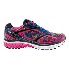 Float right past the competition, running so incredibly light and cushioned that youll be hauntingly hard to catch in the Womens Brooks Ghost 7 Kaleidoscope running shoes